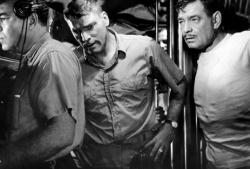 Burt Lancaster and Clark Gable in Run Silent, Run Deep.