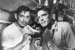 Clark Gable and Burt Lancaster in Run Silent, Run Deep.