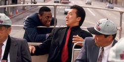 Chris Tucker and Jackie Chan in Rush Hour.