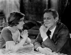 Gloria Swanson and Lionel Barrymore in Sadie Thompson.