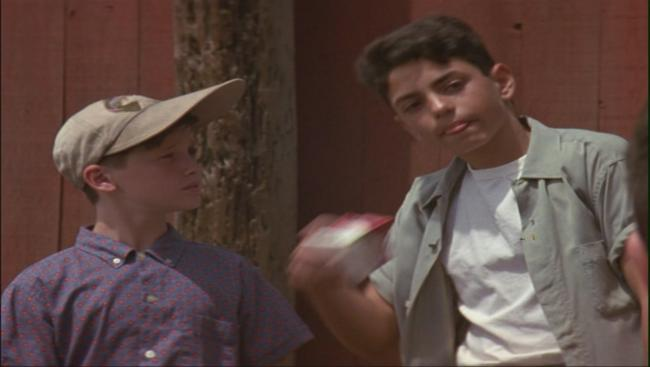 Tom Guiry and Mike Vitar in The Sandlot
