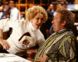 Molly Shannon and Tim Allen in The Santa Clause 2.