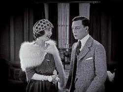 Beulah Booker and Buster Keaton in The Saphead.