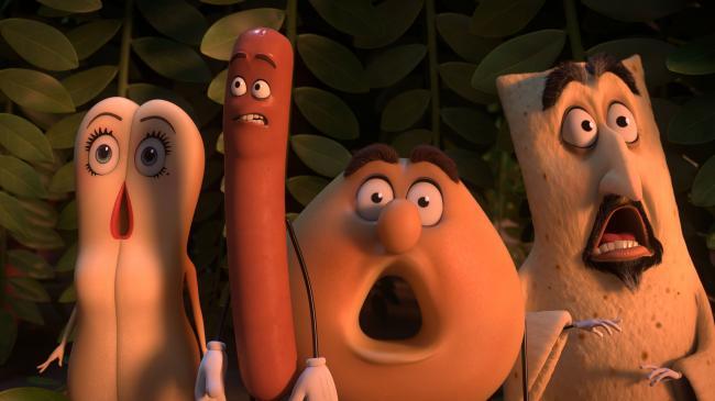 Kristen Wiig, Seth Rogen, Edward Norton, and David Krumholtz voice the food in Sausage Party.