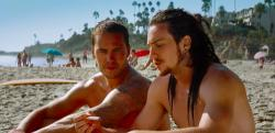 Taylor Kitsch and Aaron Taylor-Johnson play very close friends in Savages.