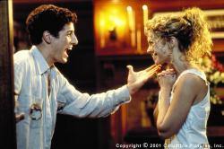 Jason Biggs and Amanda Detmer in Saving Silverman.