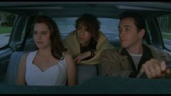 Ione Skye, Jason Gould, and John Cusack in Say Anything.