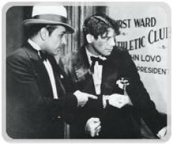 George Raft and Paul Muni up to no good in Scarface.