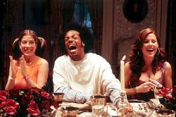 Tori Spelling, Marlon Wayans and Kathleen Robertson in Scary Movie 2.