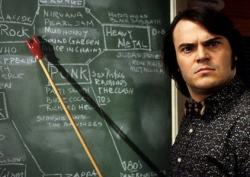 Jack Black in The School of Rock.