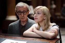 Woody Allen and Scarlett Johansson in Scoop.