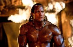 Dwayne Johnson in The Scorpion King.