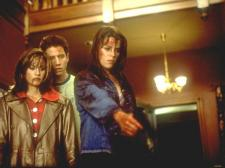 Courteney Cox, Jamie Kennedy and Neve Campbell in Scream.