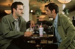 David Arquette and Jamie Kennedy in Scream 2