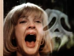 Drew Barrymore acts out the title in Scream.