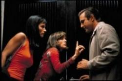 Courteney Cox, Parker Posey and David Arquette in Scream 3.