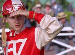 Tobey Maguire in Seabiscuit.