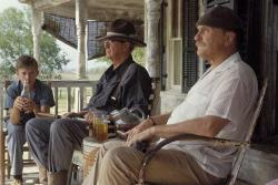 Haley Joel Osment, Robert Duvall and Michael Caine in Secondhand Lions.