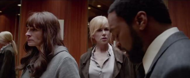 Julia Roberts, Nicole Kidman and Chiwetel Ejiofor in The Secret in Their Eyes