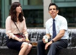 Kristen Wiig and Ben Stiller in The Secret Life of Walter Mitty.