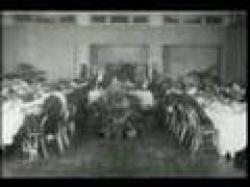 A dinner of silent film stars.