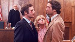 Charles Grodin, Goldie Hawn and Chevy Chase in Seems Like Old Times.
