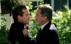 Kiefer Sutherland and Michael Douglas in The Sentinel.