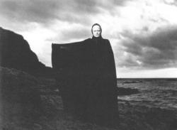 Bengt Ekerot as Death in Ingmar Bergman's iconic The Seventh Seal.