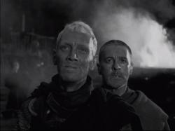 Max von Sydow and Gunnar Bjornstrand in The Seventh Seal