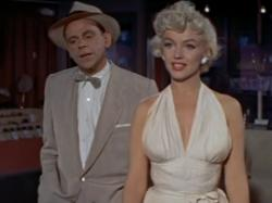 Tom Ewell and Marilyn Monroe in The Seven Year Itch.