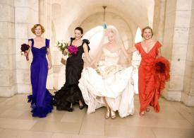 Cynthia Nixon, Kristin Davis, Sarah Jessica Parker and Kim Cattrall in Sex and the City: The Movie.