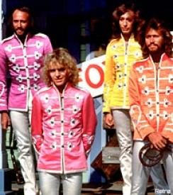 Peter Frampton and the Bee Gees in Sgt. Pepper's Lonely Hearts Club Band.