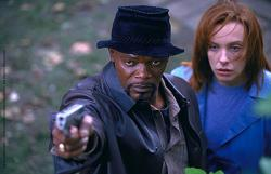 Sameul L. Jackson and Toni Collette in Shaft.