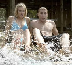 Sara Paxton and Dustin Milligan in Shark Night. If you look close, you can see an attempt at acting.