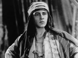 Rudolph Valentino in the role that made him a star in The Sheik.