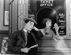 Buster Keaton in Sherlock Jr..
