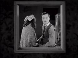 Kathryn McGuire and Buster Keaton in Sherlock Jr.