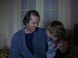 Jack Nicholson and Danny Lloyd in The Shining