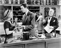 Margaret Sullavan, James Stewart, and Frank Morgan in The Shop Around the Corner.