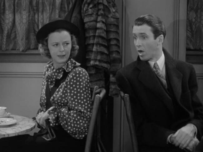 Margaret Sullavan and James Stewart in The Shop Around the Corner.