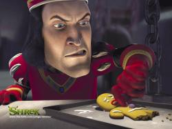 John Lithgow voices Lord Farquaad.