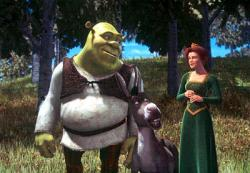 Cameron Diaz, Eddie Murphy and Mike Myers voice Princess Fiona, Donkey and Shrek.