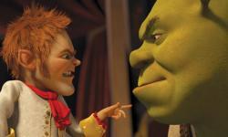 Rumpelstiltskin and Shrek face off in Shrek Forever After