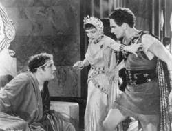 Charles Laughton, Claudette Colbert and Fredric March in Cecil B. DeMille's The Sign of the Cross.