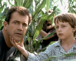 Mel Gibson and Rory Culkin in Signs.