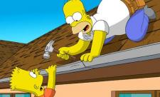 Homer and Bart share a father/son moment.