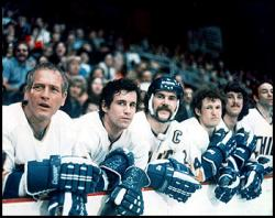 Paul Newman, Michael Ontkean and The Chiefs.