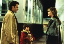 Tom Hanks and Meg Ryan on top of the Empire State Building in Sleepless in Seattle.