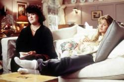 Rosie O'Donnell and Meg Ryan in Sleepless in Seattle