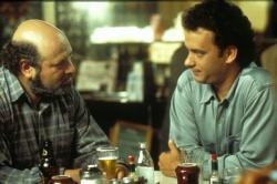 Rob Reiner and Tom Hanks in Sleepless in Seattle.